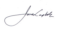 James Campbell's signature
